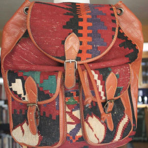 Vintage Kilm Leather Backpack